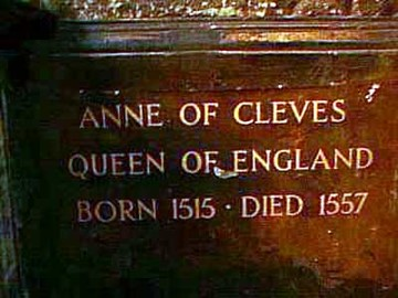 Anne of Cleves's Tomb at Westminster Abbey